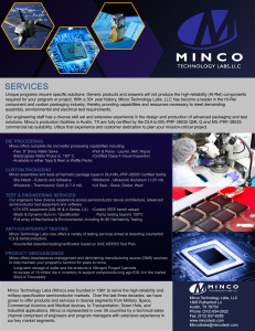 Minco Product Flyer Front
