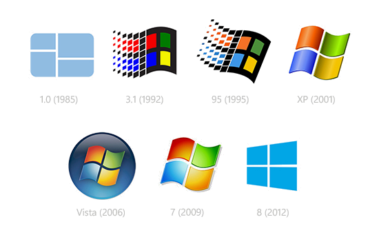 Microsoft Logo Progression